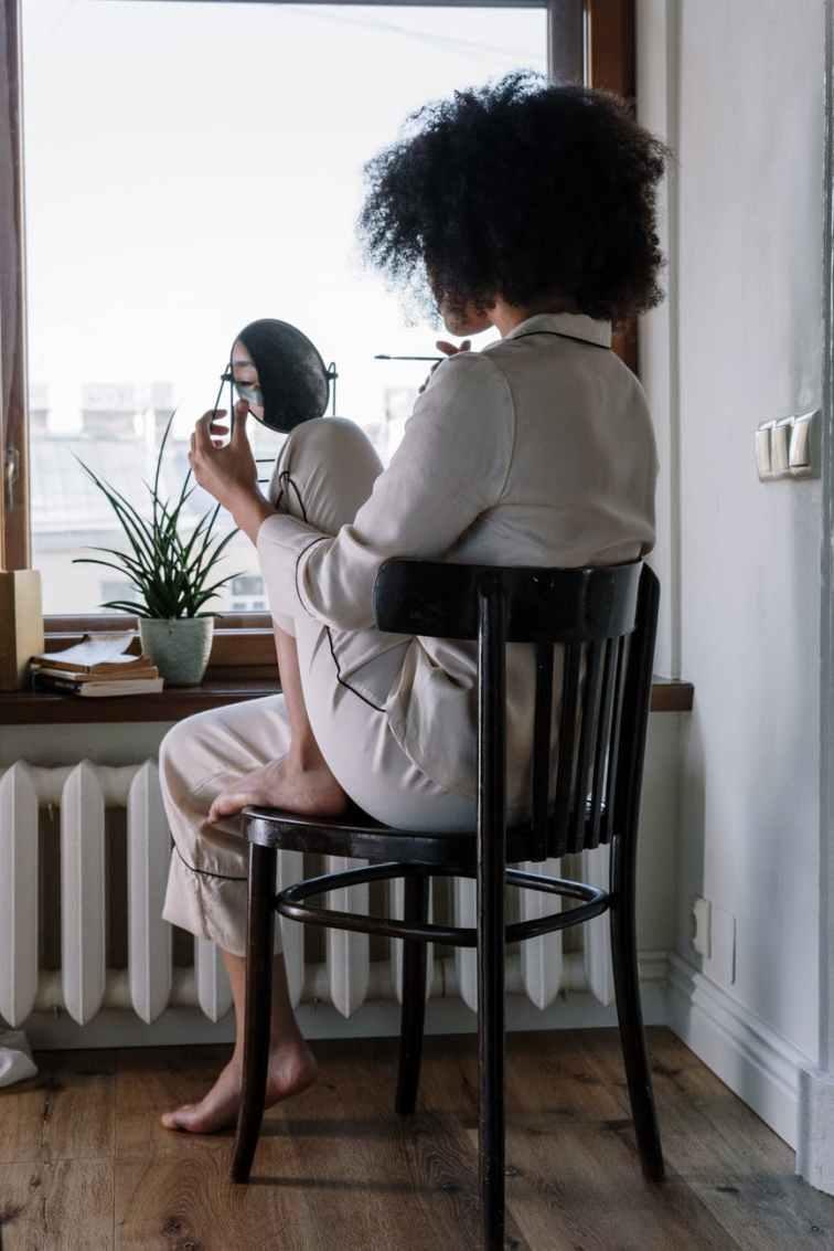 woman girl morning view